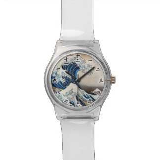 神奈川沖浪裏, 北斎 Great Wave, Hokusai, Ukiyo-e Watch