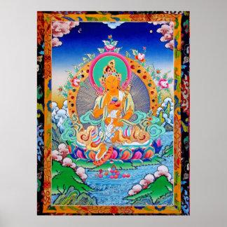 福慧度母Wisdom n Wealth Tara Poster
