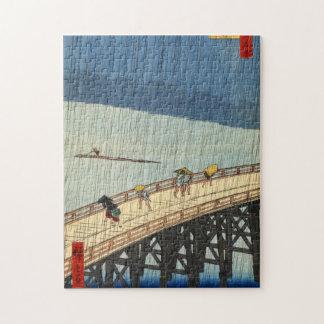 突然の雨, 広重 Sudden Rain, Hiroshige, Ukiyo-e Jigsaw Puzzle