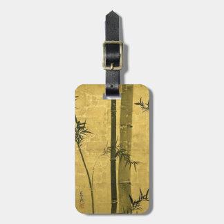 竹図, 光琳 Bamboo, Ogata Kōrin, Sumi-e Luggage Tag