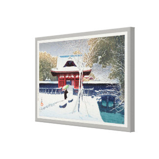 芝公園の雪, Snow at Shiba Park, Tokyo, Hasui Kawase Canvas Print