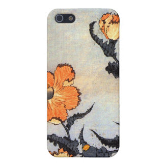 芥子の花, 北斎 Poppies, Hokusai, Ukiyoe iPhone 5 Covers