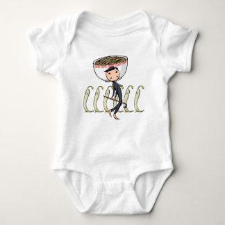萌 palm gentleman English story Ramen shop Kanagawa Baby Bodysuit