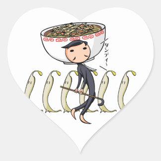 萌 palm gentleman English story Ramen shop Kanagawa Heart Sticker