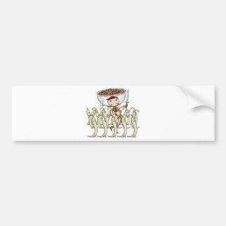 萌 palm soldier English story Ramen shop Kanagawa Bumper Sticker