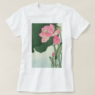 蓮の花, 小原古邨 Lotus flower, Ohara Koson, Ukiyo-e T-Shirt