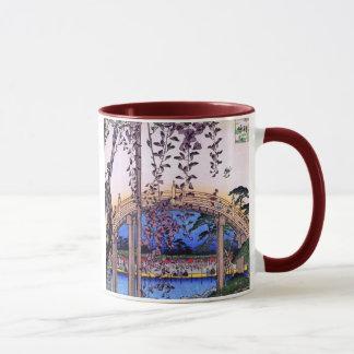 藤と太鼓橋, 広重 Wisteria and Arched Bridge, Hiroshige Mug