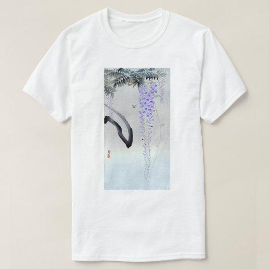 藤の花, 古邨 Flowering Wisteria, Ohara Koson, Woodcut T-Shirt