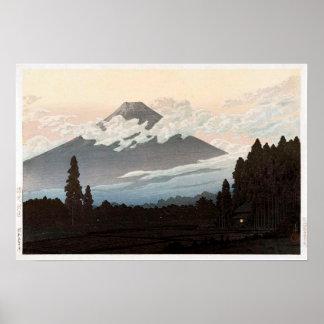 裾野の富士, Mt. Fuji from Susono, Hasui Kawase, Woodcut Poster