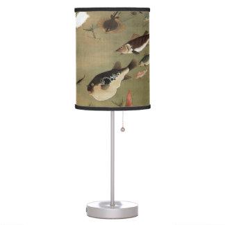 諸魚図,群魚図, 若冲 Various Fishes, Jakuchū, Japan Art Table Lamps