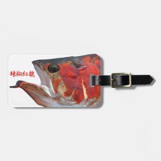 辣 椒 crimson dragon luggage tag