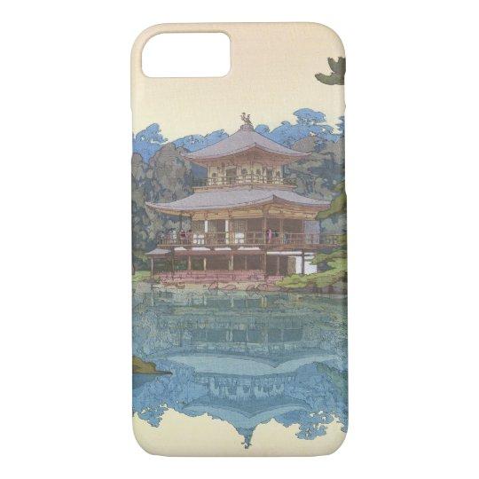 金閣寺, Kinkaku-ji, Hiroshi Yoshida, Woodcut iPhone 8/7 Case