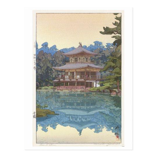 金閣寺, Kinkaku-ji, Hiroshi Yoshida, Woodcut Postcard