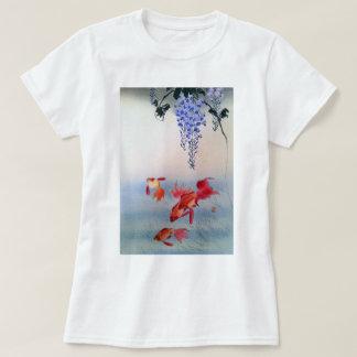 金魚と藤, 小原古邨 Goldfish and Wisteria, Ohara Koson T-Shirt