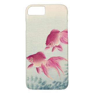 金魚, 古邨 Pair of Goldfish, Koson, Ukiyo-e, Woodcut iPhone 8/7 Case