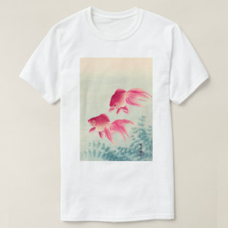金魚, 古邨 Pair of Goldfish, Koson, Ukiyo-e, Woodcut T-Shirt