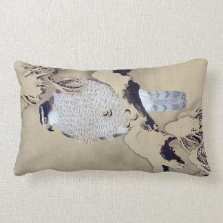 雪中鷹図, 柴田是真 Hawk in the Snow, Shibata Zeshin Lumbar Pillow