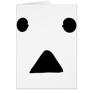 ●▲●顔 グリーティングカード