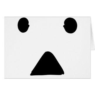●▲●顔 グリーティング・カード