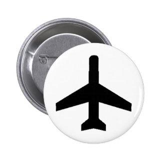 飛行機 缶バッジピンバック