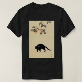 黒猫, 春草 Black Cat (detail), Shunsō, Japanese Art T-Shirt