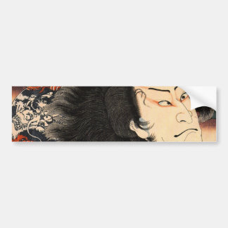 龍の刺青の役者, 国芳 Actor of Dragon's Tattoo, Ukiyoe Bumper Sticker