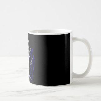 0001 Pinstripe Azul-Blanco Coffee Mug