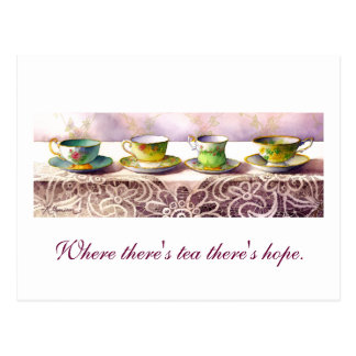 0001 Row of Teacups Arthur Wing Pinero Postcard