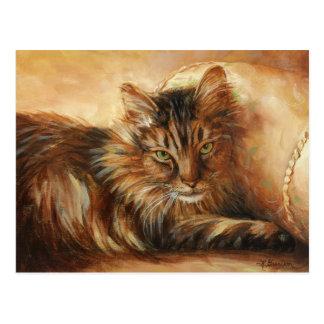 0005 Cat on Pillow Postcard