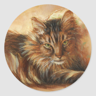 0005 Cat on Pillow Stickers