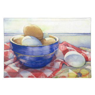 0009 Eggs in Blue Bowl Placemat