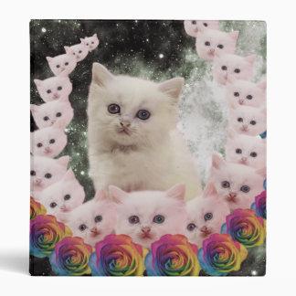 000-flower-cat 3 ring binders