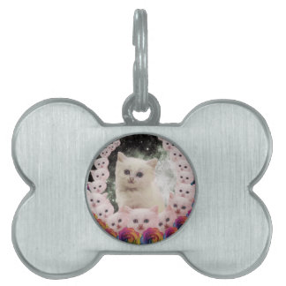 000-flower-cat pet name tag