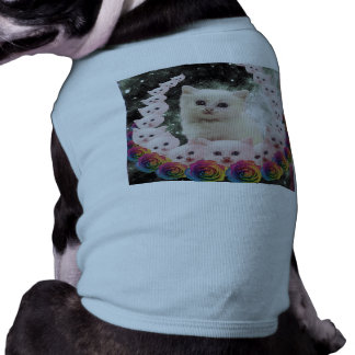 000-flower-cat pet tee shirt