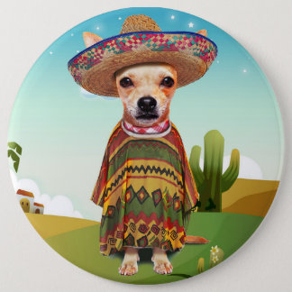 000-mexican 6 inch round button