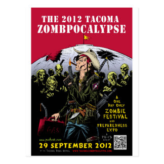 000- The 2012 Zombie Festerval full color poster 1 Postcard