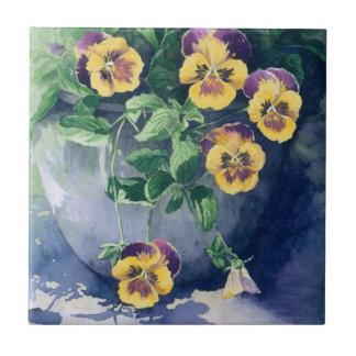 0011 Pansies in Planter Ceramic Tiles