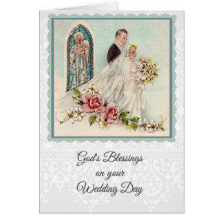 0025 Catholic Wedding Card w/scripture & verse