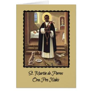 0029 St. Martin de Porres Greeting Card w/ prayer