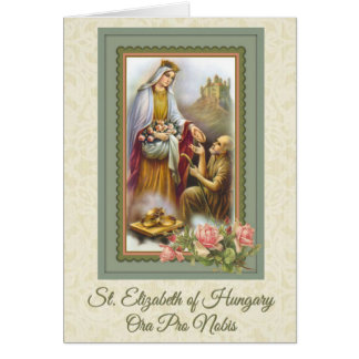 0031 St. Elizabeth of Hungary Greeting Card prayer