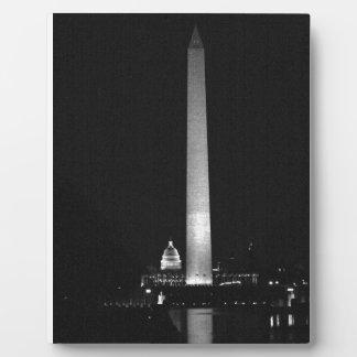 0031 Washington's Glow (Night B&W).JPG Plaque