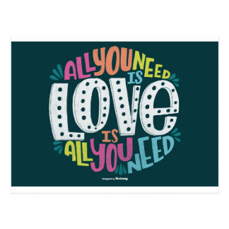 0032-ALL-YOU-NEED-IS-LOVE-01 POSTCARD
