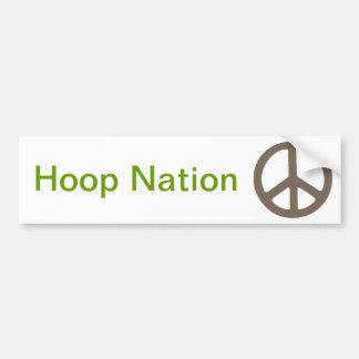 0037 peace sign, Hoop Nation Bumper Sticker