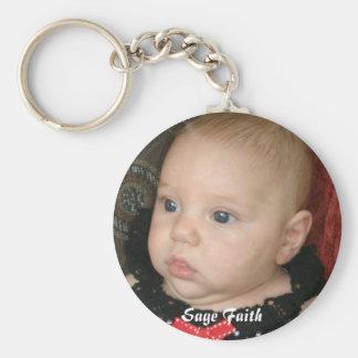 005-1, Sage Faith Basic Round Button Keychain