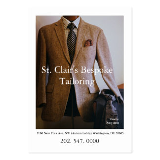 0065720-R3-007-2, St. Clair's Bespoke Tailoring... Large Business Card