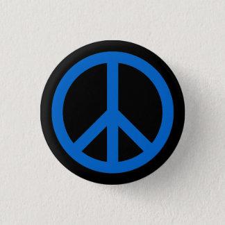 0066CC Peace Symbol Button