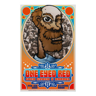 007 ONEEYEDRED-Fillmore-fbig Posters