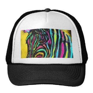008 zebra colors trucker hat
