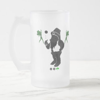 00Shamrock - Leprechaun 16 oz Frosted Glass Mug