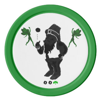 00Shamrock - Leprechaun Clay Poker Chips